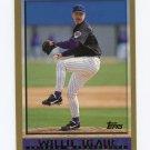 1998 Topps Baseball #423 Willie Blair - Arizona Diamondbacks
