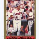 1998 Topps Baseball #336 David Justice - Cleveland Indians