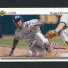1992 Upper Deck Baseball #768 Charlie Hayes - New York Yankees