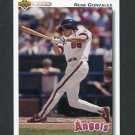 1992 Upper Deck Baseball #729 Rene Gonzales - California Angels