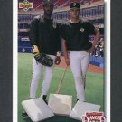 1992 Upper Deck Baseball #711 Barry Bonds / Andy Van Slyke CL - Pittsburgh Pirates