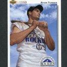 1992 Upper Deck Baseball #710 Ryan Turner RC - Colorado Rockies
