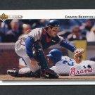 1992 Upper Deck Baseball #706 Damon Berryhill - Atlanta Braves