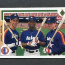 1991 Upper Deck Baseball #702 Luis Gonzalez / Karl Rhodes / Jeff Bagwell - Houston Astros
