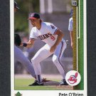 1989 Upper Deck Baseball #800 Pete O'Brien - Cleveland Indians ExMt