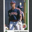 1989 Upper Deck Baseball #794 Claudell Washington - California Angels