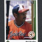 1989 Upper Deck Baseball #749 Phil Bradley - Baltimore Orioles