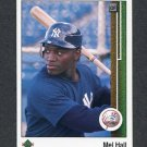 1989 Upper Deck Baseball #729 Mel Hall - New York Yankees
