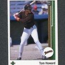 1989 Upper Deck Baseball #726 Tom Howard - San Diego Padres