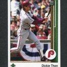 1989 Upper Deck Baseball #704 Dickie Thon - Philadelphia Phillies