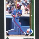 1989 Upper Deck Baseball #444 Dave Martinez - Montreal Expos
