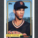 1992 Topps Baseball #786 Royce Clayton - San Francisco Giants