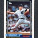 1992 Topps Baseball #562 Wade Taylor - New York Yankees