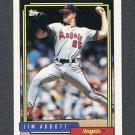 1992 Topps Baseball #530 Jim Abbott - California Angels