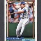 1992 Topps Baseball #412 Luis Aquino - Kansas City Royals
