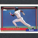 1992 Topps Baseball #340 Otis Nixon - Atlanta Braves