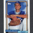 1992 Topps Baseball #183 Brent Mayne - Kansas City Royals
