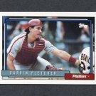 1992 Topps Baseball #159 Darrin Fletcher - Philadelphia Phillies