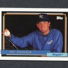 1992 Topps Baseball #075 Bret Saberhagen - Kansas City Royals