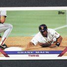 1993 Topps Baseball #282 Shane Mack - Minnesota Twins