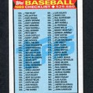 1989 Topps Baseball #619 Checklist 529-660