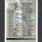 1993 Upper Deck Baseball #315 Checklist 211-315 / Will Clark