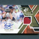 2009 SPx Game Patch Autographs Baseball #GJABB Brian Bass - Baltimore Orioles AUTO Game Used /23