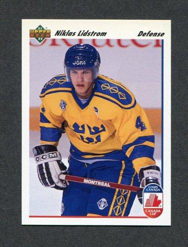 1991-92 Upper Deck Hockey #026 Niklas Lidstrom CC RC - Detroit Red Wings