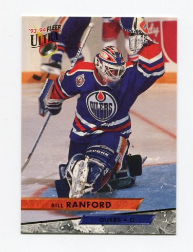 1993-94 Ultra Hockey #158 Bill Ranford - Edmonton Oilers