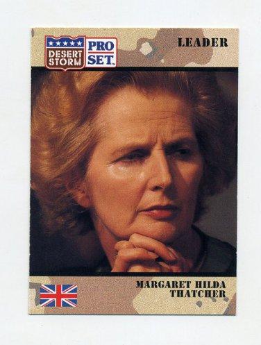 1991 Desert Storm Pro Set #084 Margaret Hilda Thatcher