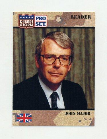 1991 Desert Storm Pro Set #076 John Major