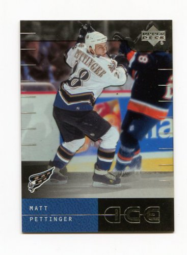 2000-01 Upper Deck ICE Hockey #080 Matt Pettinger - Washington Capitals