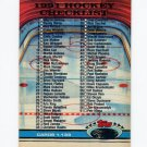 1991-92 Stadium Club Hockey #398 Checklist 1-133