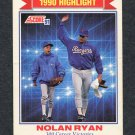 1991 Score Baseball #417 Nolan Ryan HL - Texas Rangers VgEx
