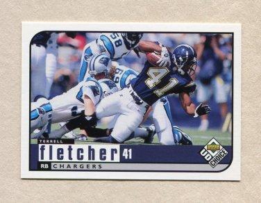1998 UD Choice Football #409 Terrell Fletcher - San Diego Chargers