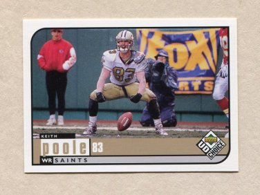 1998 UD Choice Football #371 Keith Poole - New Orleans Saints
