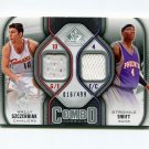 2009-10 SP Game Used Combo Materials #CMSS Stromile Swift / Wally Szczerbiak Game Used /499