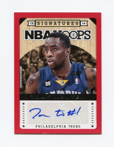 2013-14 Hoops Autographs Red #43 Tony Wroten - Philadelphia 76ers AUTO 26/50