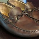 Saks Fifth Avenue 11.5 W Driving Moccasins / Loafers Brown Leather