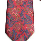 Balenciaga Paisley / Floral Silk Tie Red Blue Pink and Green