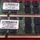 Lot of 2 Panasonic CF-WMBA601G 1GB PC2-5300 667 MHZ CL5 (2G Ram)