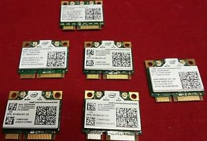 Lot of 6 wifi cards Intel Advanced-N 6205 /1 ultimate-N 6300  633ANHMW 62205ANHM