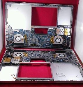 """Lot of 2 Macbook Pro 15""""  Bottom-Case, Motherboard, & Fans"""