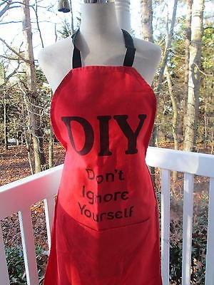 DIY (Don't Ignore Yourself) Red Apron, NWOT, wonderful gift that says it all!!!
