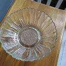 "Vtg ""Sunflower"" glass bowl/serving piece, 10"" wide, 4"" hi, perfect & pretty too!"