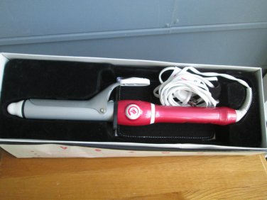 T3 Professional Curling Iron (pink handle) Model #73576,used slightly--all parts