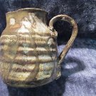 "No.Carolina pottery handmade art  pitcher (4""), muted earth tones, perfect"