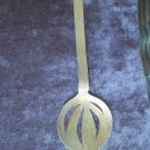 "Sterling (Wano Wrought) serving spoon 9.5"" long, design etched,A+ pretty,useful!"