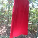 Red silk skirt, Josephine Chaus, Sz 18, soft, elegant, fully lined, zipper, A++!