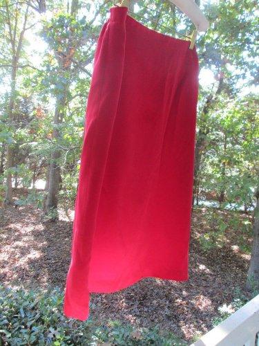 Red silk skirt, Josephine Chaus, Sz 18, soft, elegant, fully lined, zipper, A++!